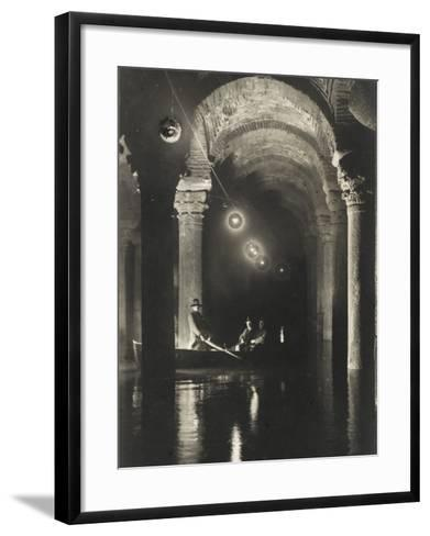 The Istanbul Underground Cistern--Framed Art Print