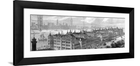 St Thomas's Hospital--Framed Art Print