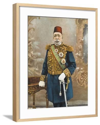 Sultan Mehmed V Reshad of Turkey--Framed Art Print