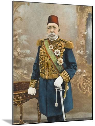 Sultan Mehmed V Reshad of Turkey--Mounted Photographic Print