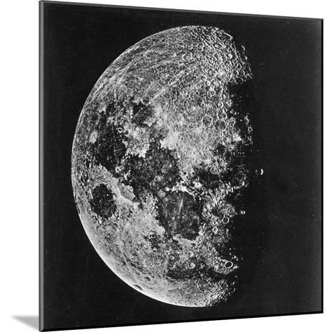 The Moon Photographed on the Tenth Day of the Lunar Cycle--Mounted Photographic Print