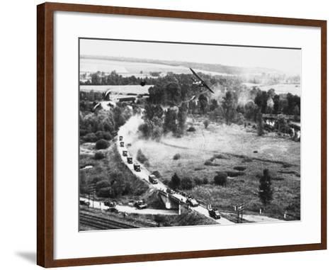 Transport Column in France WWII-Robert Hunt-Framed Art Print