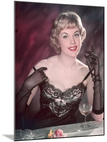 Lacy Lingerie Pin-Up-Charles Woof-Mounted Photographic Print