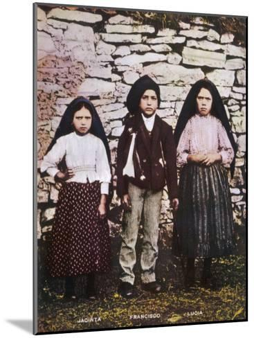 The Three Children Jacinta Francisco and Lucia Who Saw the Vision of Fatima in Portugal--Mounted Photographic Print