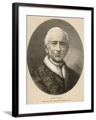 Pope Leo XIII (Gioacchino Vincenzo Raffaelle Luigi Pecci) at the Time of His Death--Framed Art Print