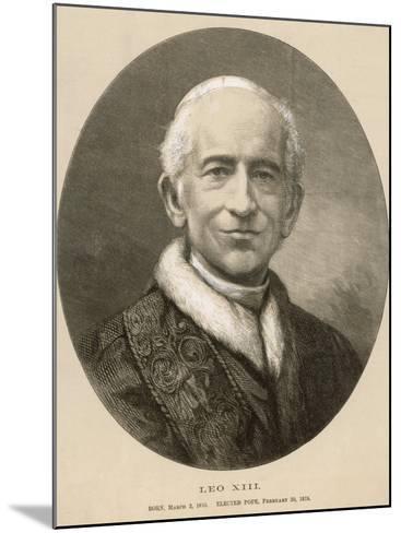 Pope Leo XIII (Gioacchino Vincenzo Raffaelle Luigi Pecci) at the Time of His Death--Mounted Photographic Print