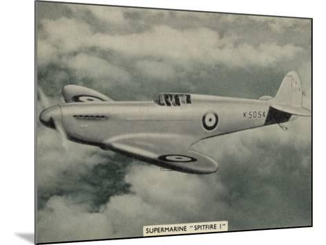 """The """"Spitfire"""" as It Appears at the Outbreak of World War Two a Magnificent Machine--Mounted Photographic Print"""