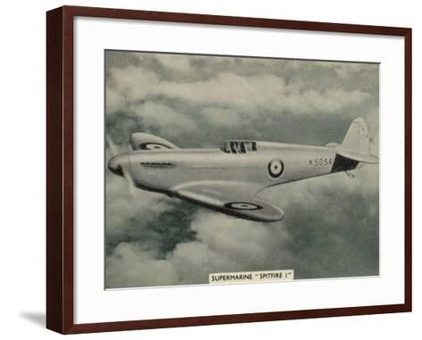 """The """"Spitfire"""" as It Appears at the Outbreak of World War Two a Magnificent Machine--Framed Art Print"""
