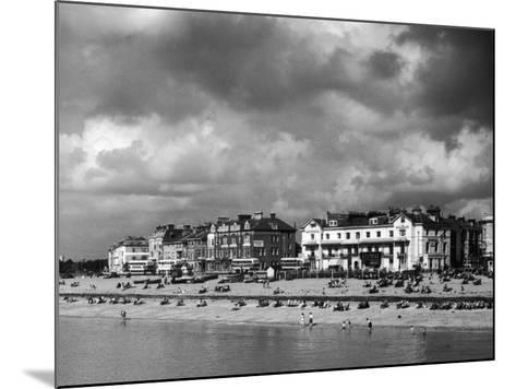 Storm Clouds Over the Promenade and the Beach from the Pier at Southsea Hampshire England--Mounted Photographic Print