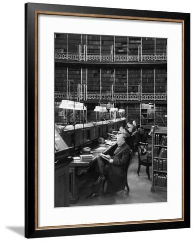 Readers in the Reading Room Have Access to One of the Largest Collections of Books in the World--Framed Art Print