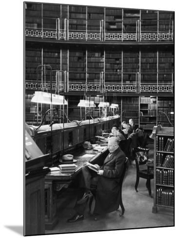 Readers in the Reading Room Have Access to One of the Largest Collections of Books in the World--Mounted Photographic Print