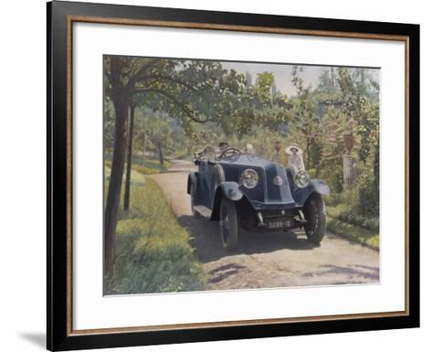 The Chauffeur of a Renault 40CV Torpedo Sport--Framed Art Print