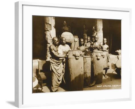 The War Drums of the Ashanti Tribesmen - Gold Coast, West Africa - Ghana--Framed Art Print