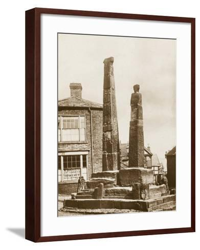 The Crosses, Sandbach--Framed Art Print