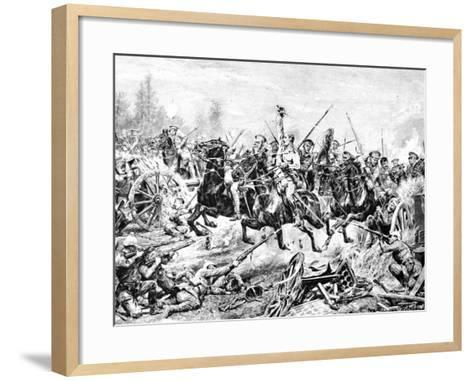 The Charge of the 9th Lancers at a German Battery Near Mons--Framed Art Print