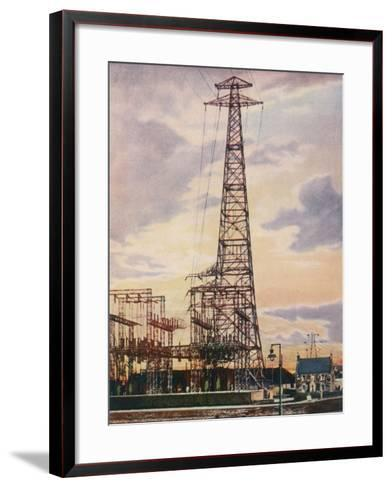 Part of Britain's National Grid This is the Sub-Station at Yoker Near Glasgow Scotland--Framed Art Print