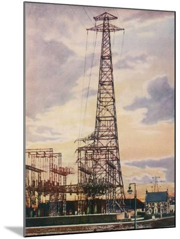 Part of Britain's National Grid This is the Sub-Station at Yoker Near Glasgow Scotland--Mounted Photographic Print