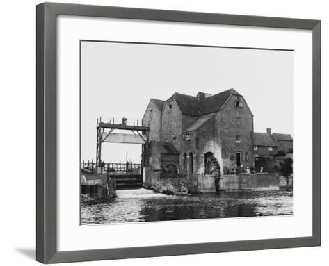 Tewkesbury Watermill--Framed Art Print