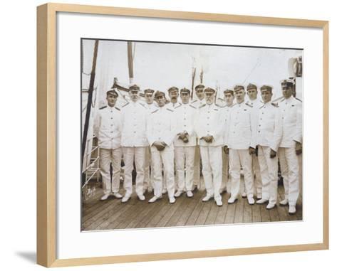 Crew of RMS Olympic--Framed Art Print