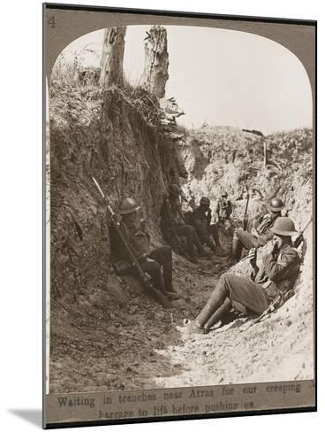 Waiting in Trenches WWI--Mounted Photographic Print