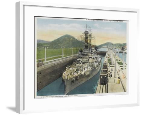 Wyoming Warship--Framed Art Print