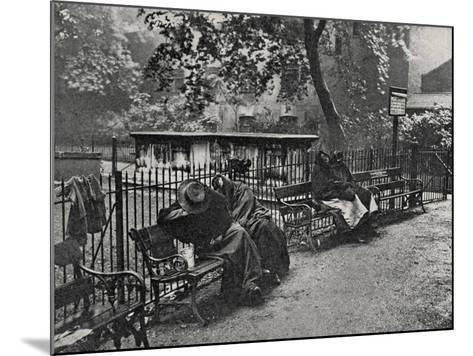 Women Vagrants Sleeping, Spitalfields, East End of London-Peter Higginbotham-Mounted Photographic Print
