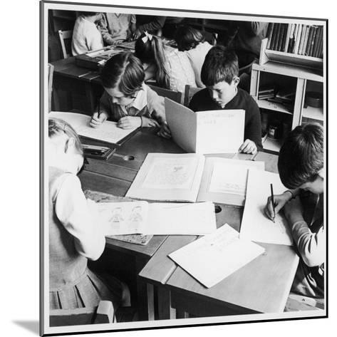 Walter Halls Primary School, Nottingham Children Reading, Writing and Drawing-Henry Grant-Mounted Photographic Print