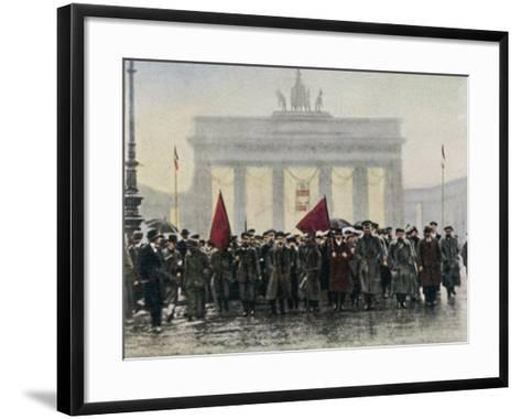 Left Wing Demonstrations That Lead to Ebert Forming the Weimar Republic--Framed Art Print