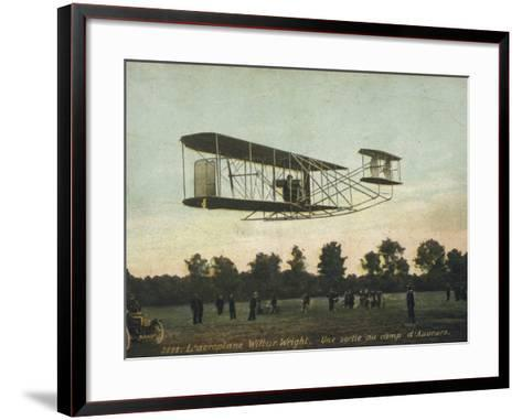 Beautiful Shot of Wilbur Wright Making a Demonstration Flight at Auvours--Framed Art Print