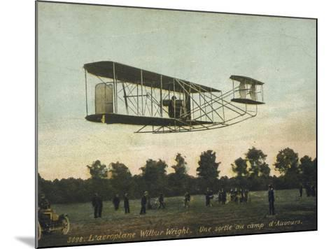 Beautiful Shot of Wilbur Wright Making a Demonstration Flight at Auvours--Mounted Photographic Print