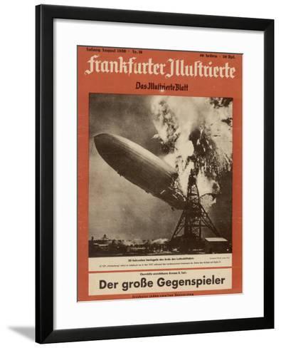 The Hindenburg Disaster--Framed Art Print