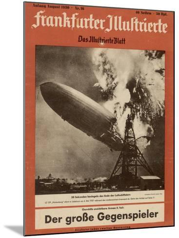 The Hindenburg Disaster--Mounted Photographic Print