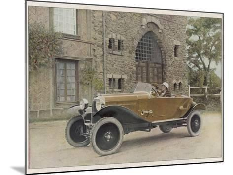 The Citroen Caddy of 12Hp is a Sporty Little Two-Seater for Summer Touring--Mounted Photographic Print