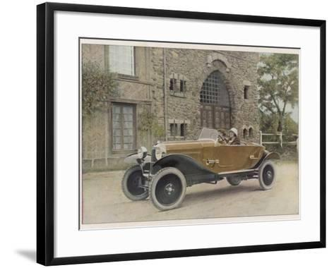 The Citroen Caddy of 12Hp is a Sporty Little Two-Seater for Summer Touring--Framed Art Print