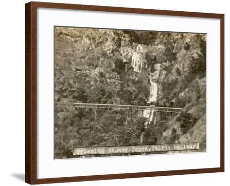 Train Crossing Stoney Creek on the Cairns Railway, Queensland, Australia--Framed Art Print