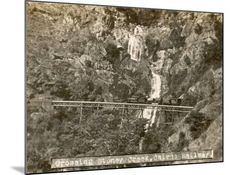 Train Crossing Stoney Creek on the Cairns Railway, Queensland, Australia--Mounted Photographic Print