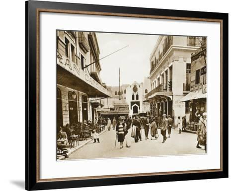 The Little Market, Tangiers, Morocco--Framed Art Print