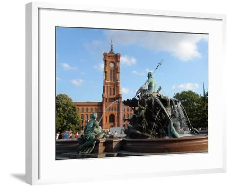 The Red Town Hall (Rotes Rathaus), Berlin, Germany--Framed Art Print