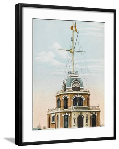 The Semaphore System at the Port of Le Havre, France--Framed Art Print