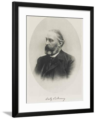 Rene-Francois-Armand Pseudonym Sully Prudhomme French Poet--Framed Art Print