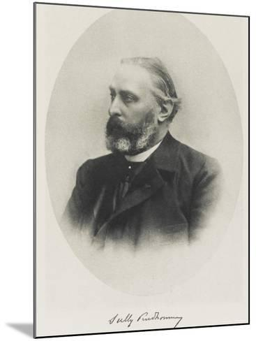 Rene-Francois-Armand Pseudonym Sully Prudhomme French Poet--Mounted Photographic Print
