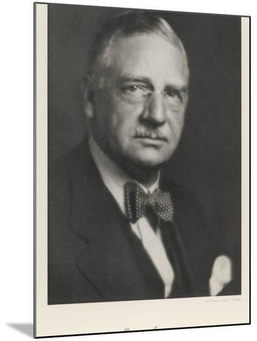 Otto Loewi American Pharmacologist Born in Germany--Mounted Photographic Print