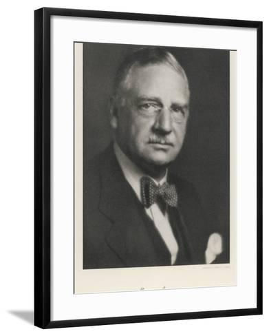 Otto Loewi American Pharmacologist Born in Germany--Framed Art Print