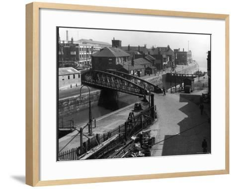 The Entrance Lock of St. Andrew's Dock, Kingston-Upon-Hull, East Yorkshire, England--Framed Art Print