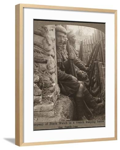 Members of the Black Watch Regiment in the Trenches--Framed Art Print
