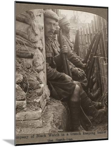 Members of the Black Watch Regiment in the Trenches--Mounted Photographic Print