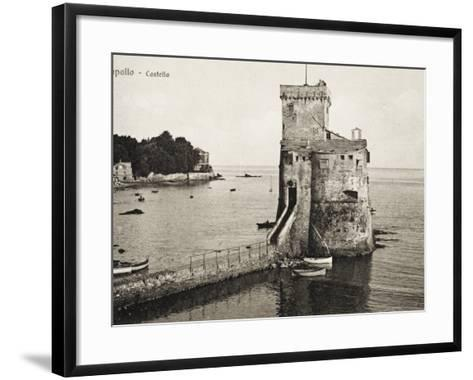 The Castle - Rapallo, Italy, Guarding the Entrance to the Harbour--Framed Art Print