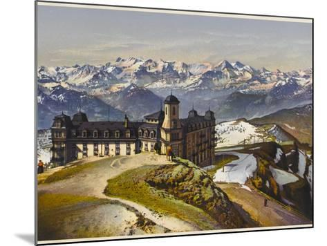 Swiss Alps: on the Rigi Summit, with the Bernese Alps in the Distance--Mounted Photographic Print