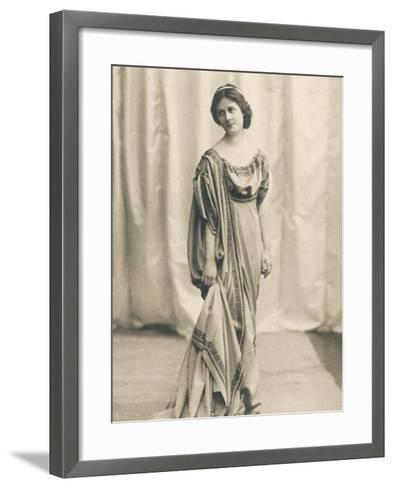 Isadora Duncan American Dancer in a Long Robe--Framed Art Print