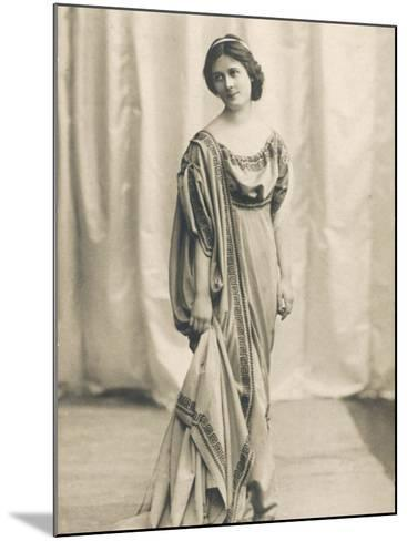 Isadora Duncan American Dancer in a Long Robe--Mounted Photographic Print